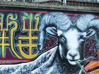 红星路羊年主题涂鸦